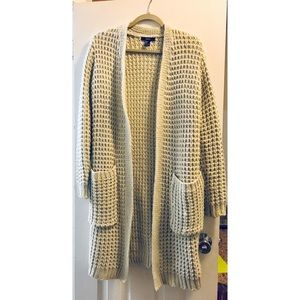 Forever 21 Chunky knit cream cardigan